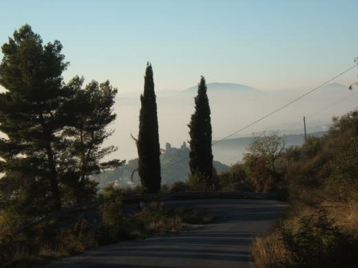 În apropiere de Assisi