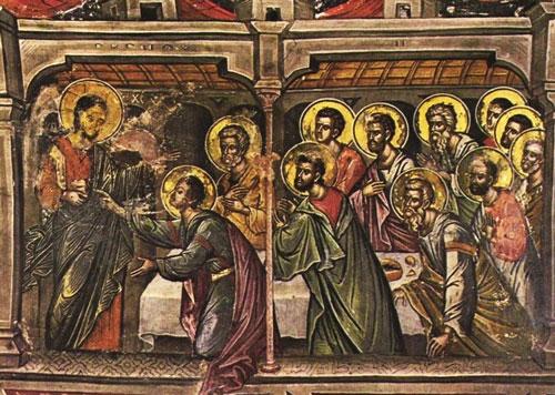 Holy Trinity Family - Douma - Lebanon: Thomas l'incrédule.